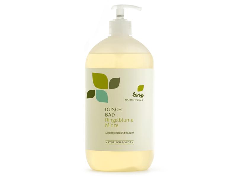 Duschbad Ringelblume Minze Flasche